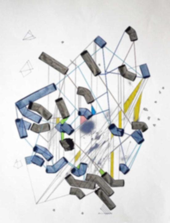 Art on paper Hiivernn 2022 by Philippe Halaburda