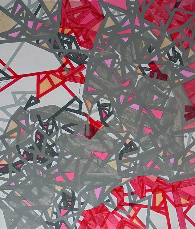 Abstract cityscapes on canvas by Halaburda