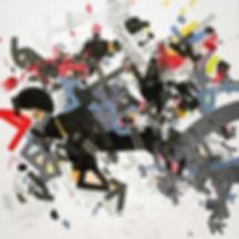 Abstract painting on canvas by Halaburda 2016