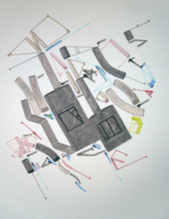Art on paper Caniis Miror Cassiiop J by Philippe Halaburda