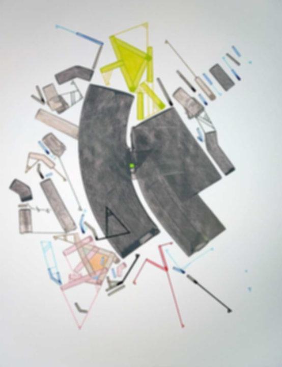 Art on paper Caniis Miror Cassiiop M by Philippe Halaburda