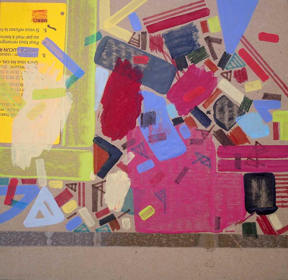 Original artwork on cardboard by Halaburda