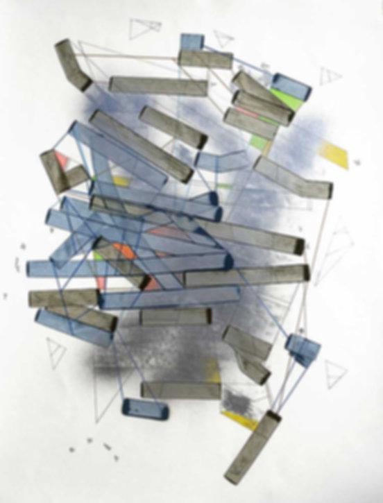 Art on paper Hiivernn 2018 by Philippe Halaburda
