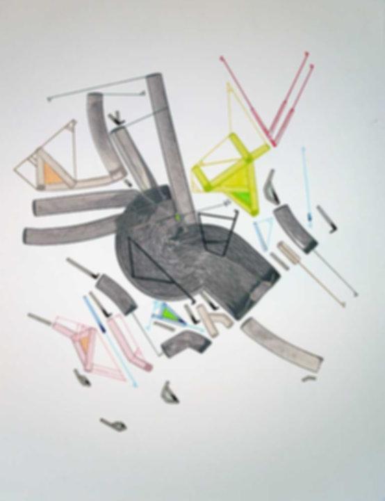 Art on paper Caniis Miror Cassiiop C by Philippe Halaburda
