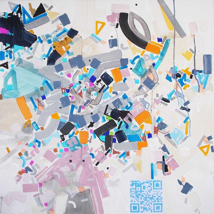 Abstract interaction on canvas by Halaburda