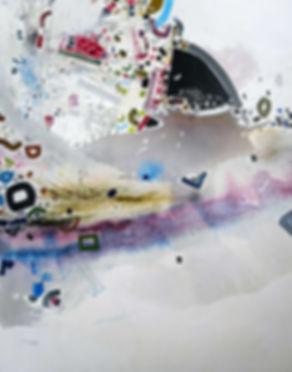 Abstract map on canvas by Halaburda 2010