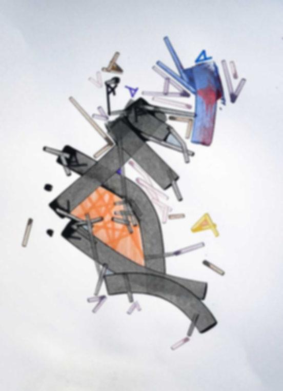 Art on paper Celiiac by Philippe Halaburda