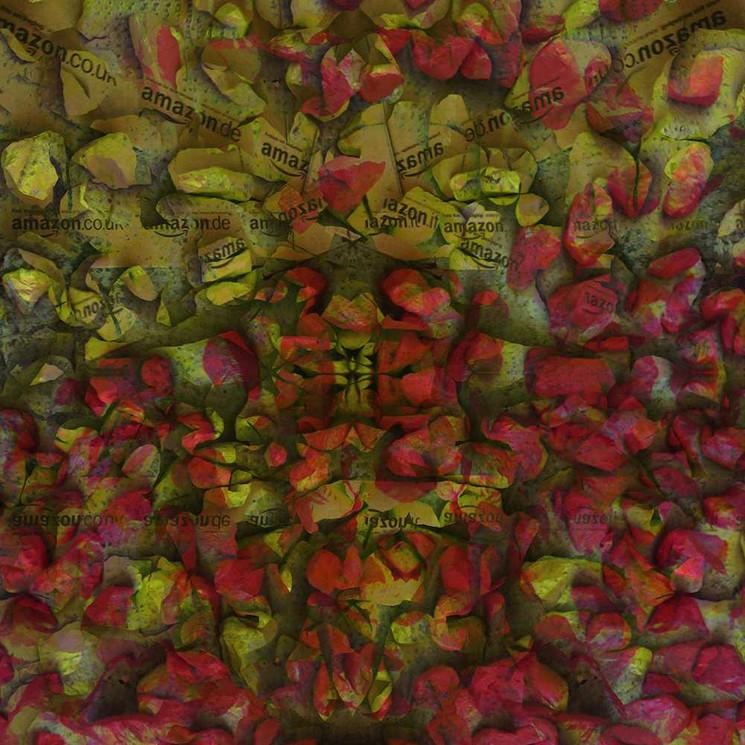 Digital art with original painted rocks by Halaburda