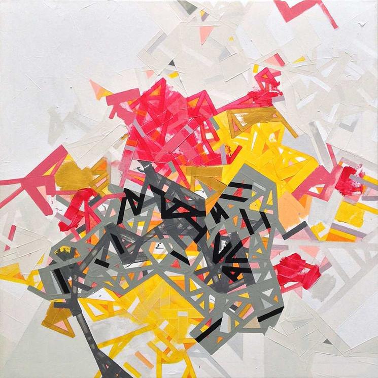 Abstract networkson canvas by Halaburda