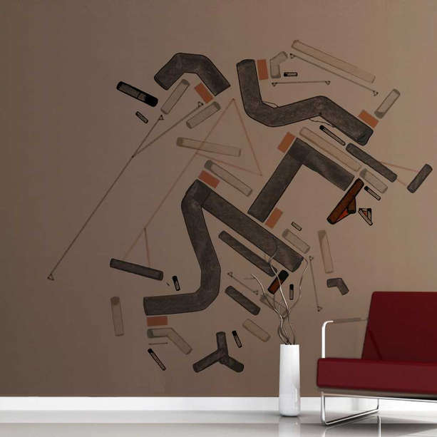 Indoor wall sticker for lobby