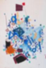 Abstract art on paper by Halaburda