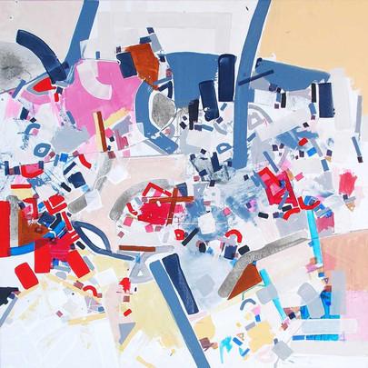 Abstract energy on canvas by Halaburda