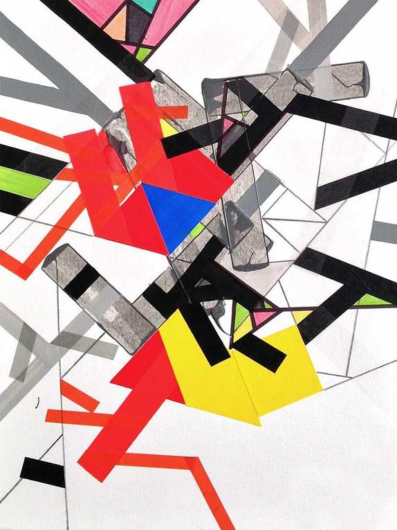 Tatekk tapes 10.jpegaOriginal tape art on paper by Halaburda