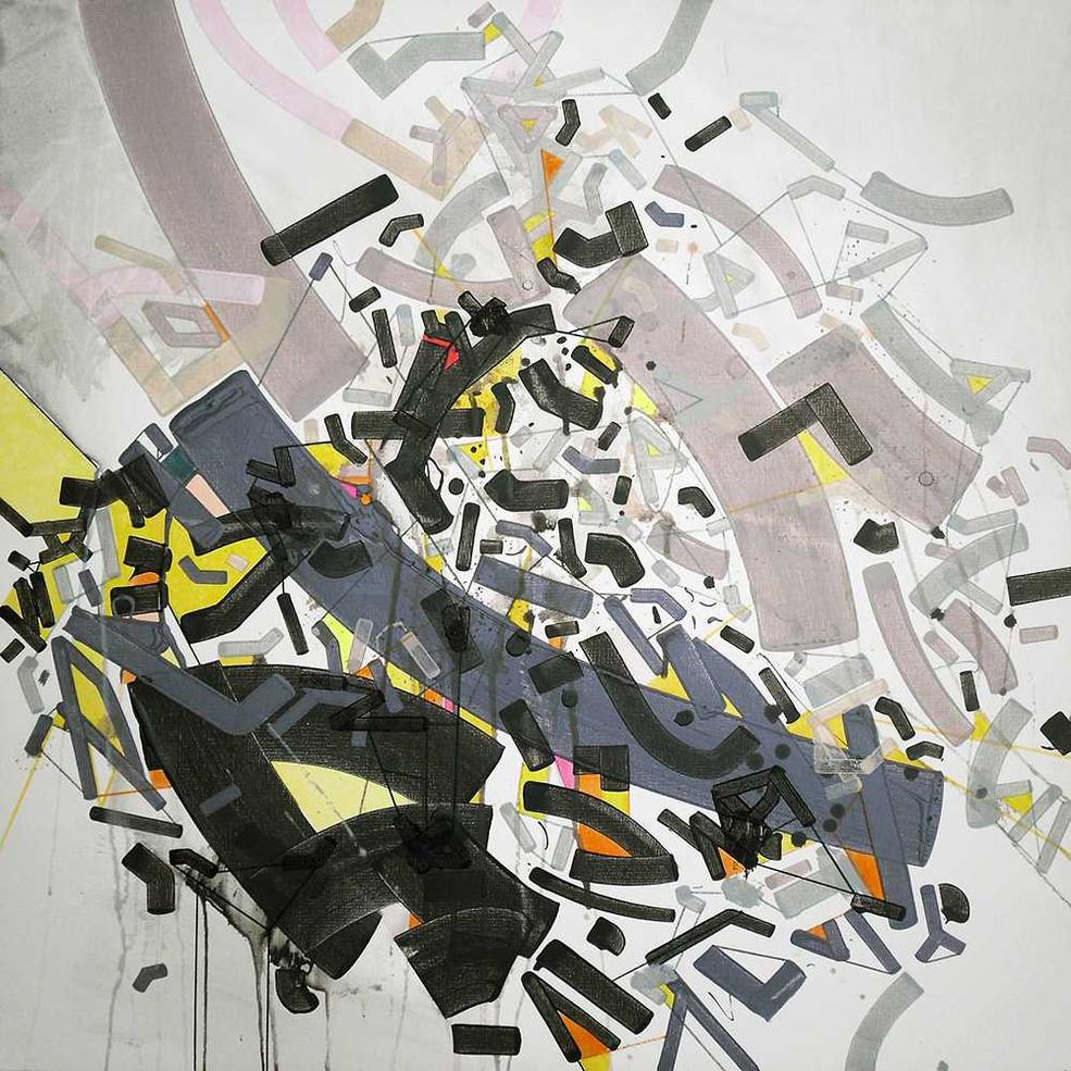 Abstract spleen on canvas by Halaburda