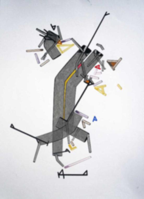Art on paper Vuulnar Arrch by Philippe Halaburda