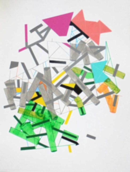 Art on paper Siimonttonn 3 by Philippe Halaburda