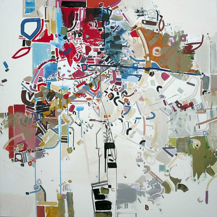 Abstract correlations oncanvas