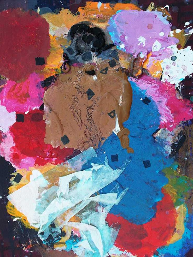 Halaburda artist's palette on cardboard