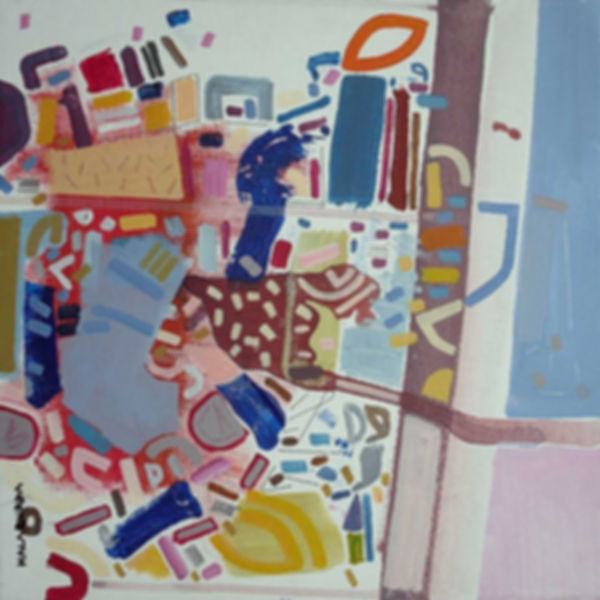 Abstract topography on canvas by Halaburda 2010