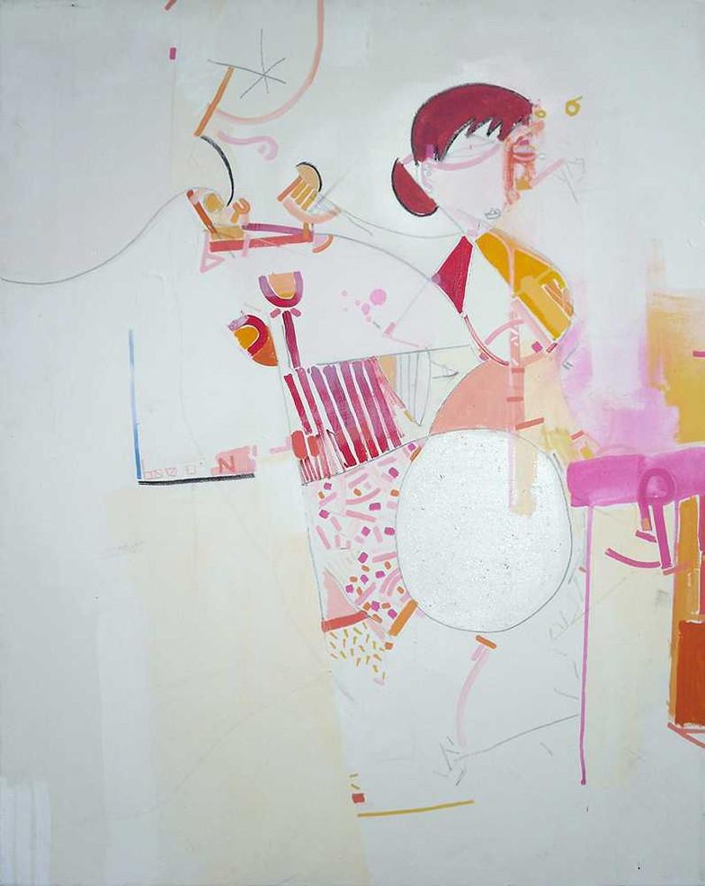 Semi figurative painting oncanvas by Halaburda
