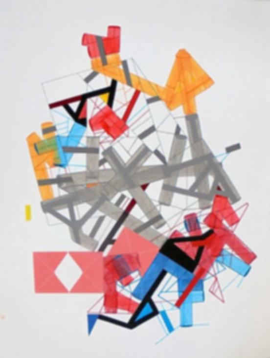 Art on paper Siimonttonn 4 by Philippe Halaburda