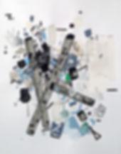 Abstract art on paper by Halaburdact