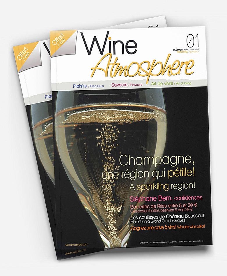Wine Atmosphere magazine Print Design