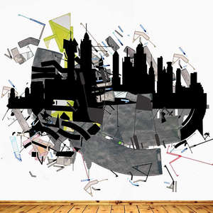 New York skyline wall sticker (project)