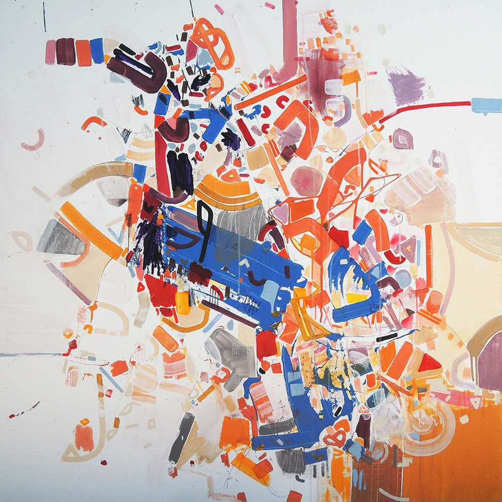 Abstract painting oncanvas by Halaburda