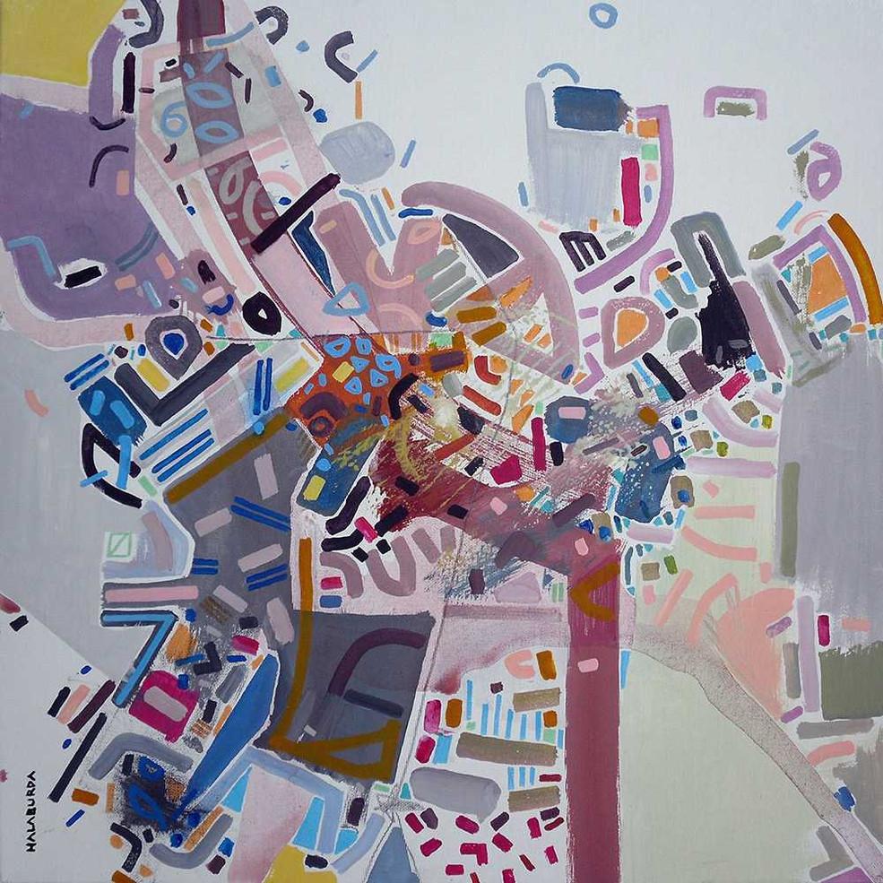 Abstract mind maps oncanvas by Halaburda