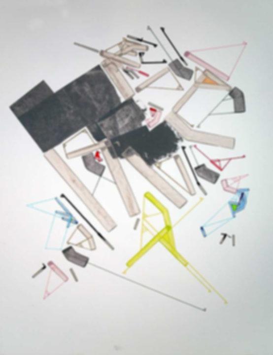 Art on paper Caniis Miror Cassiiop I by Philippe Halaburda