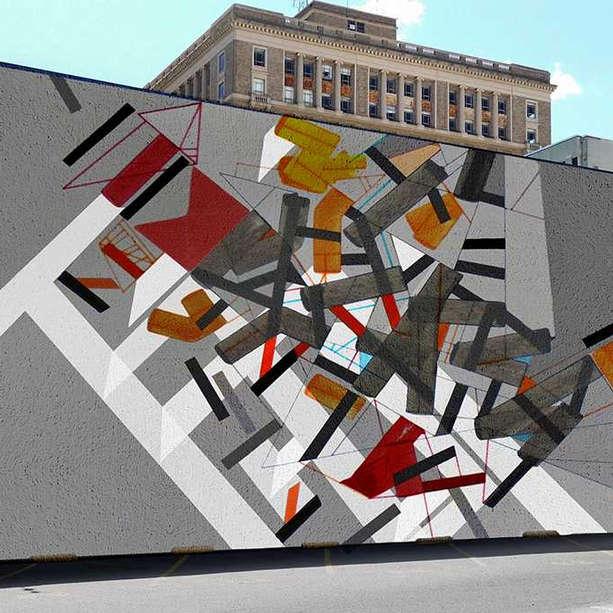 Outdoor mural, USA