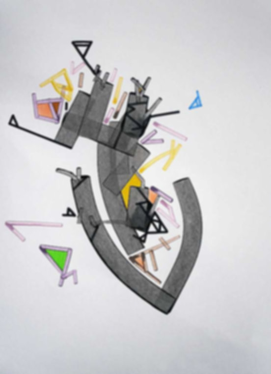 Art on paper Heaart by Philippe Halaburda