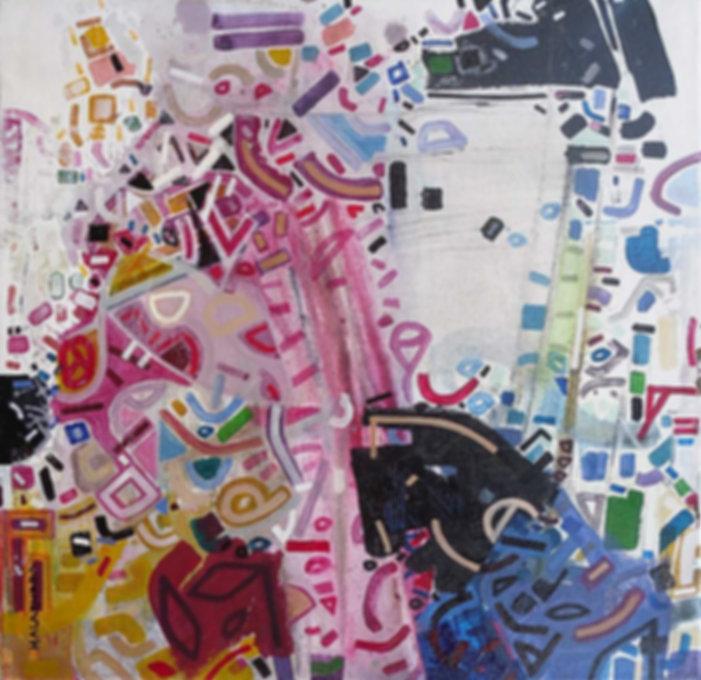 Abstract organism on canvas by Halaburda 2009