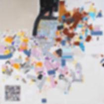 QR codes on canvas by Halaburda 2015