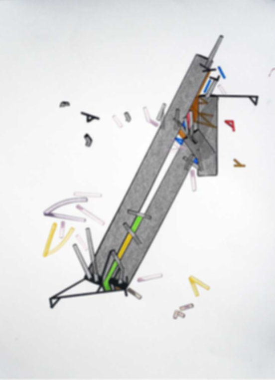 Art on paper Peroonea by Philippe Halaburda