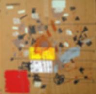 Abstract painting on cardboard by Halaburda