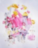 Halaburda abstract paintings on paper
