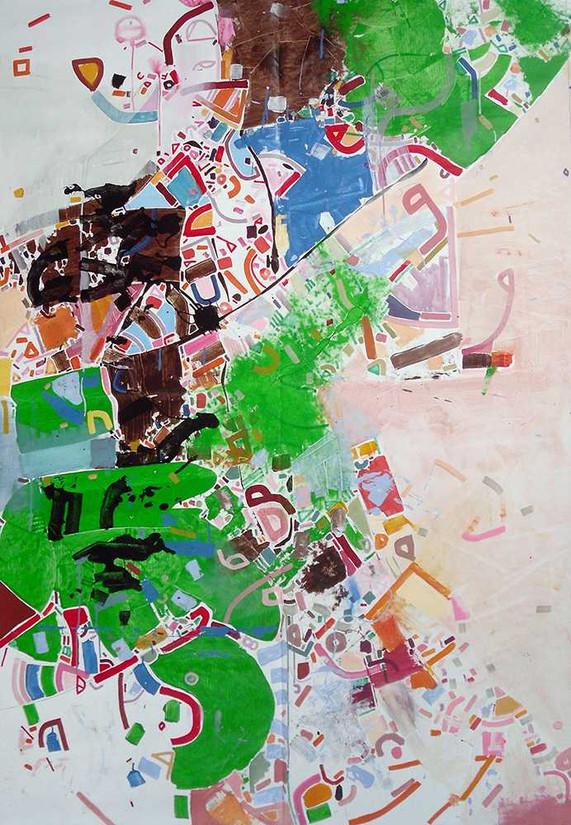 Abstract memories oncanvas by Halaburda