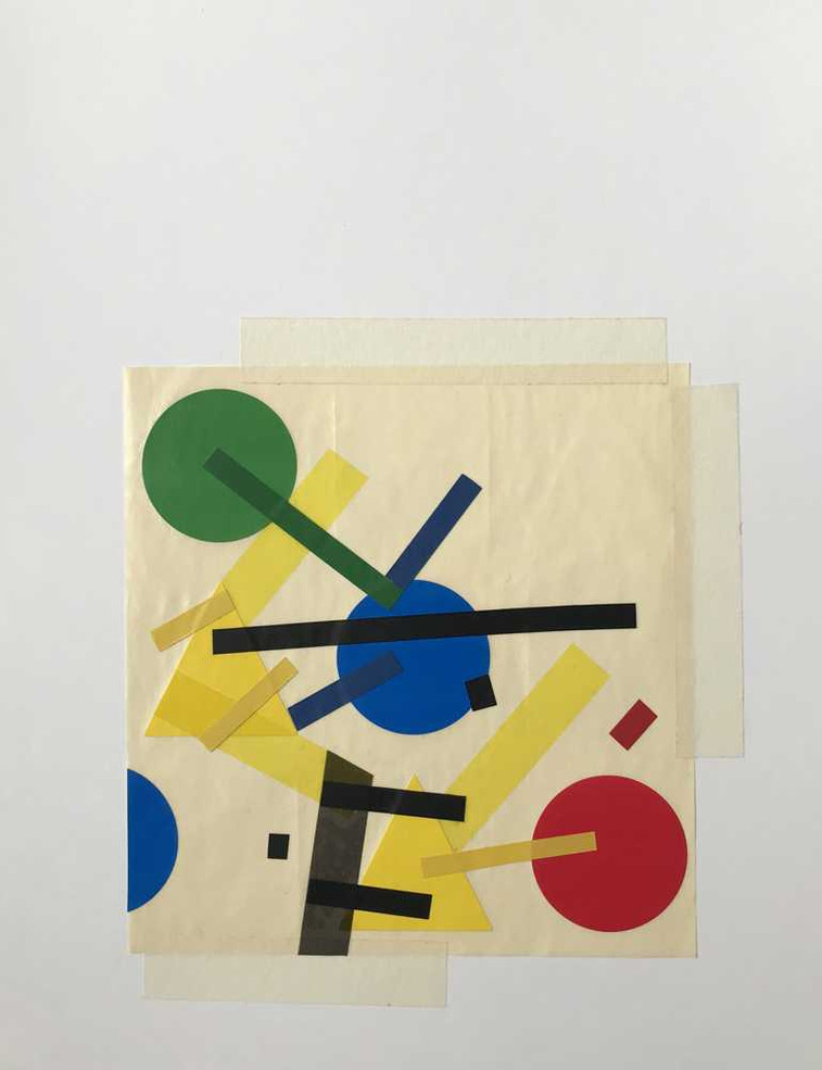 Original tape art on paper by Halaburda
