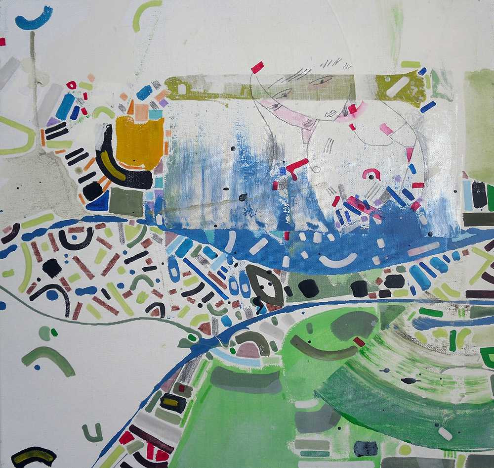 Abstract landscapeoncanvas by Halaburda