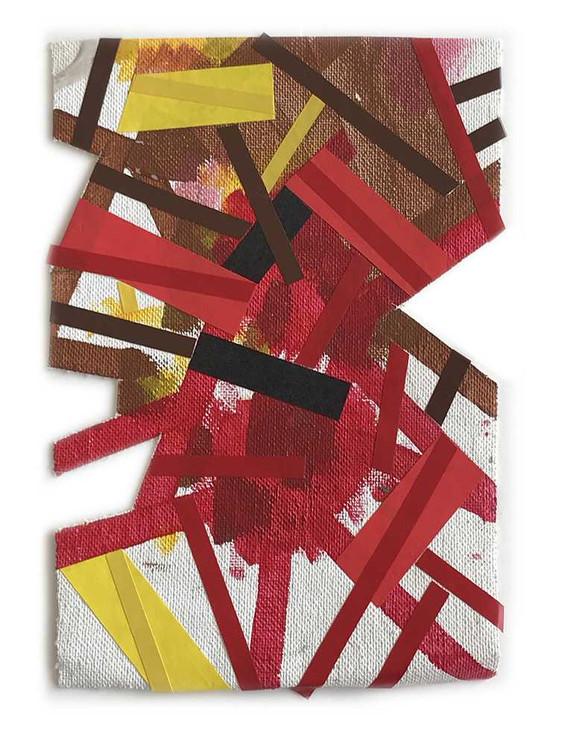 Emotional map on unstretched canvas by Halaburda