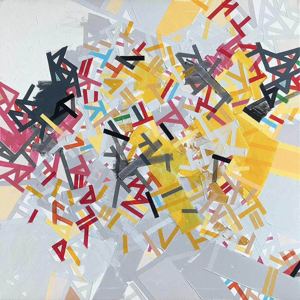 Moral dispositions on canvas by Halaburda