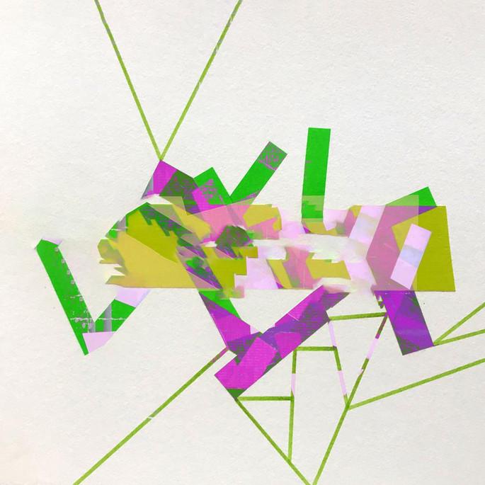 Digital art based on original tape art by Halaburda