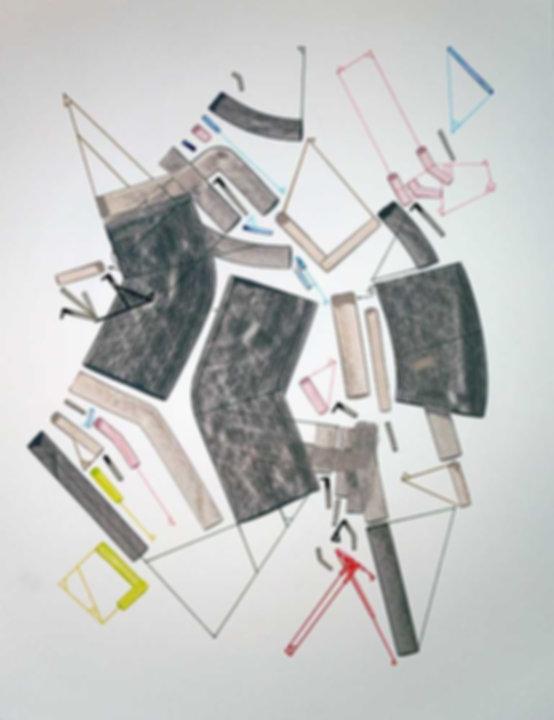 Art on paper Caniis Miror Cassiiop G by Philippe Halaburda
