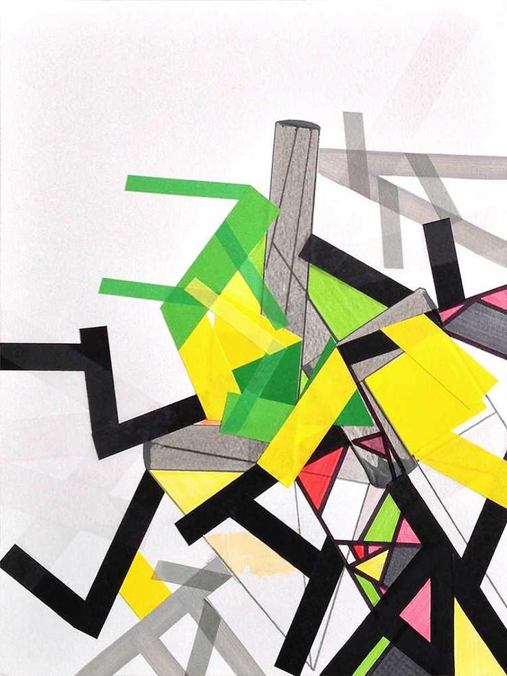 Tatekk tapes 12.jpegaOriginal tape art on paper by Halaburda