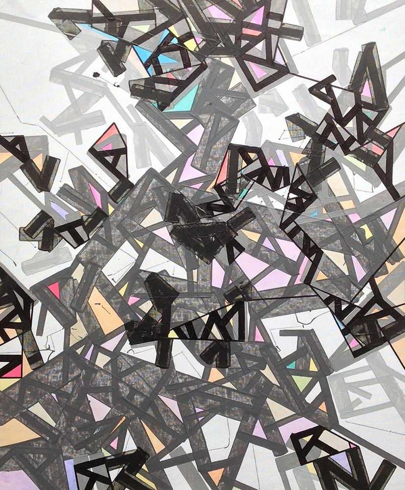 Abstract cultures on canvas by Halaburda