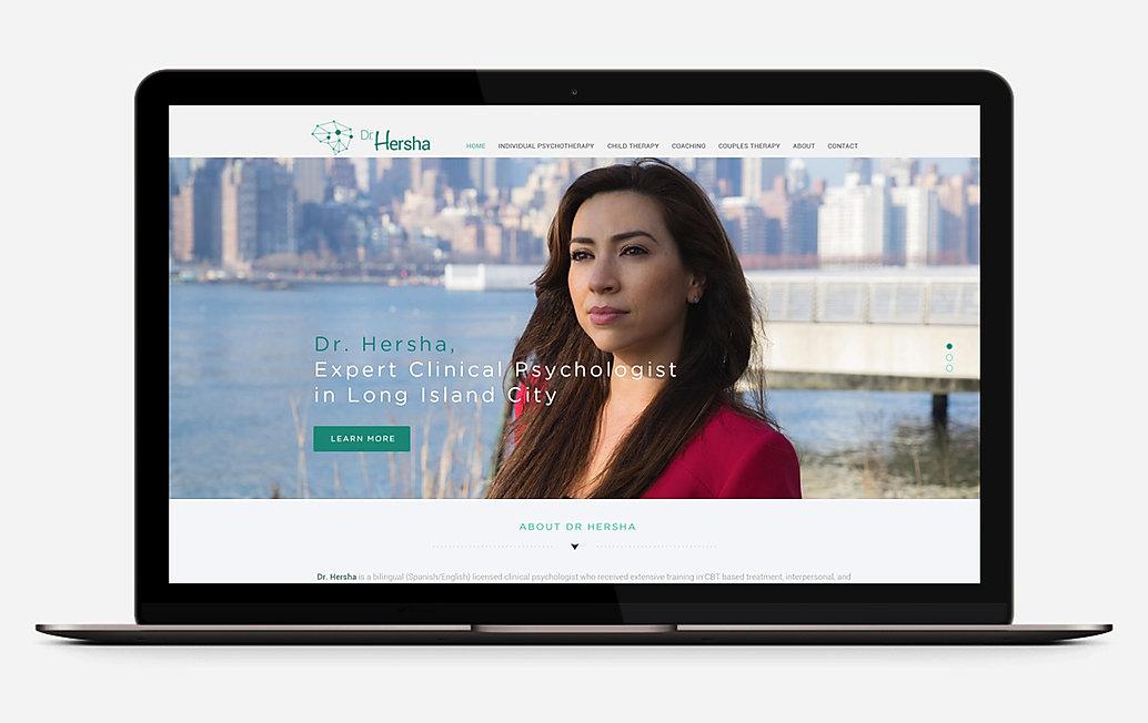 Dr Hersha website digital design
