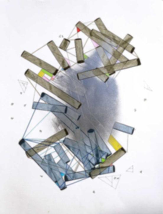 Art on paper Hiivernn 2028 by Philippe Halaburda
