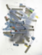 Art on paper by Philippe Halaburda, multidisciplinary artist, USA